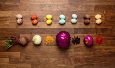 All-natural Easter egg dyes