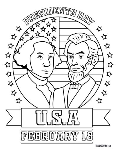 PRESIDENTDAY1 ColoringBook
