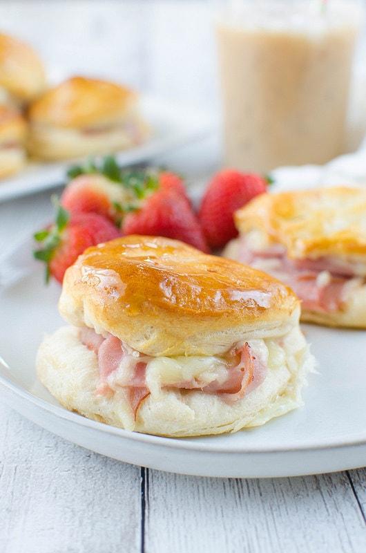honey-ham-biscuits