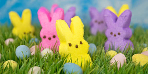 Easter bunny candy and eggs