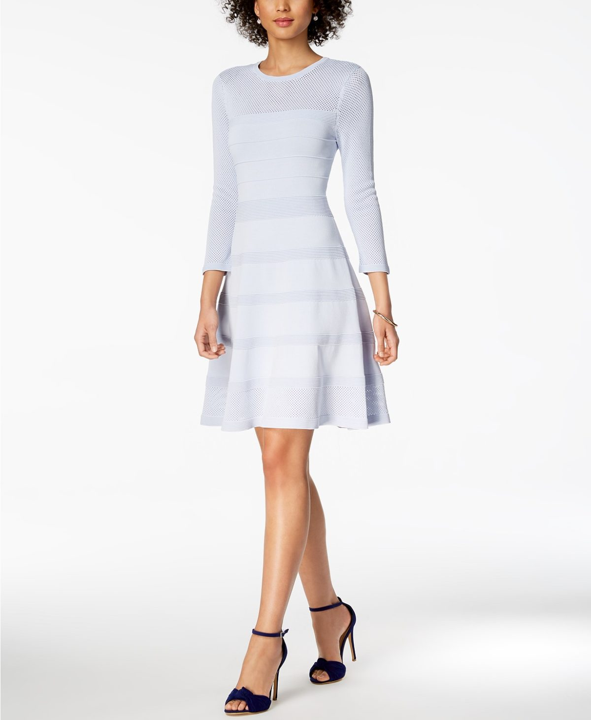 perforated-fit-flare-dress-macys-easter-fashion-for-women