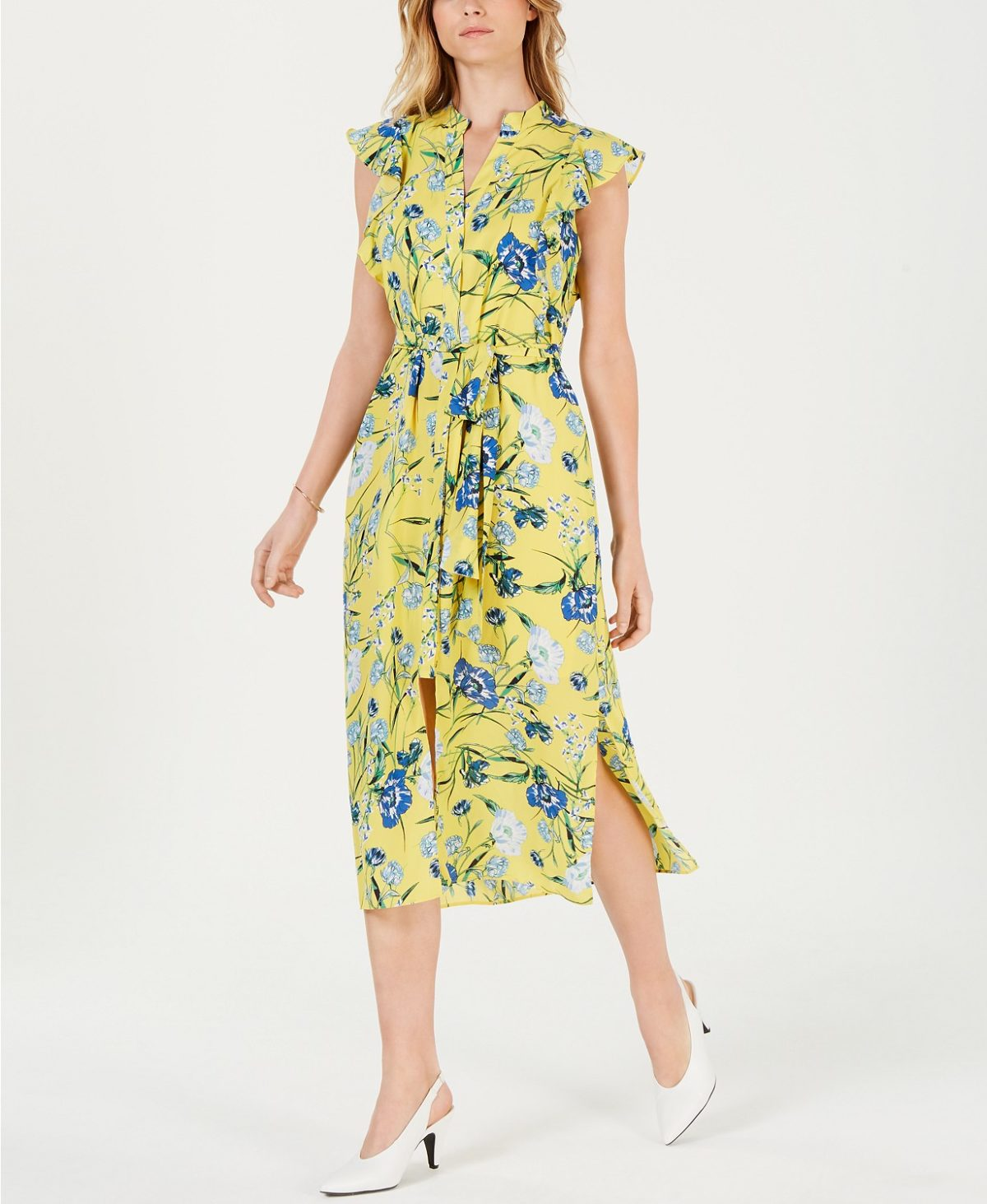 printed-flutter-sleeve-midi-dress-easter-fashion-for-women