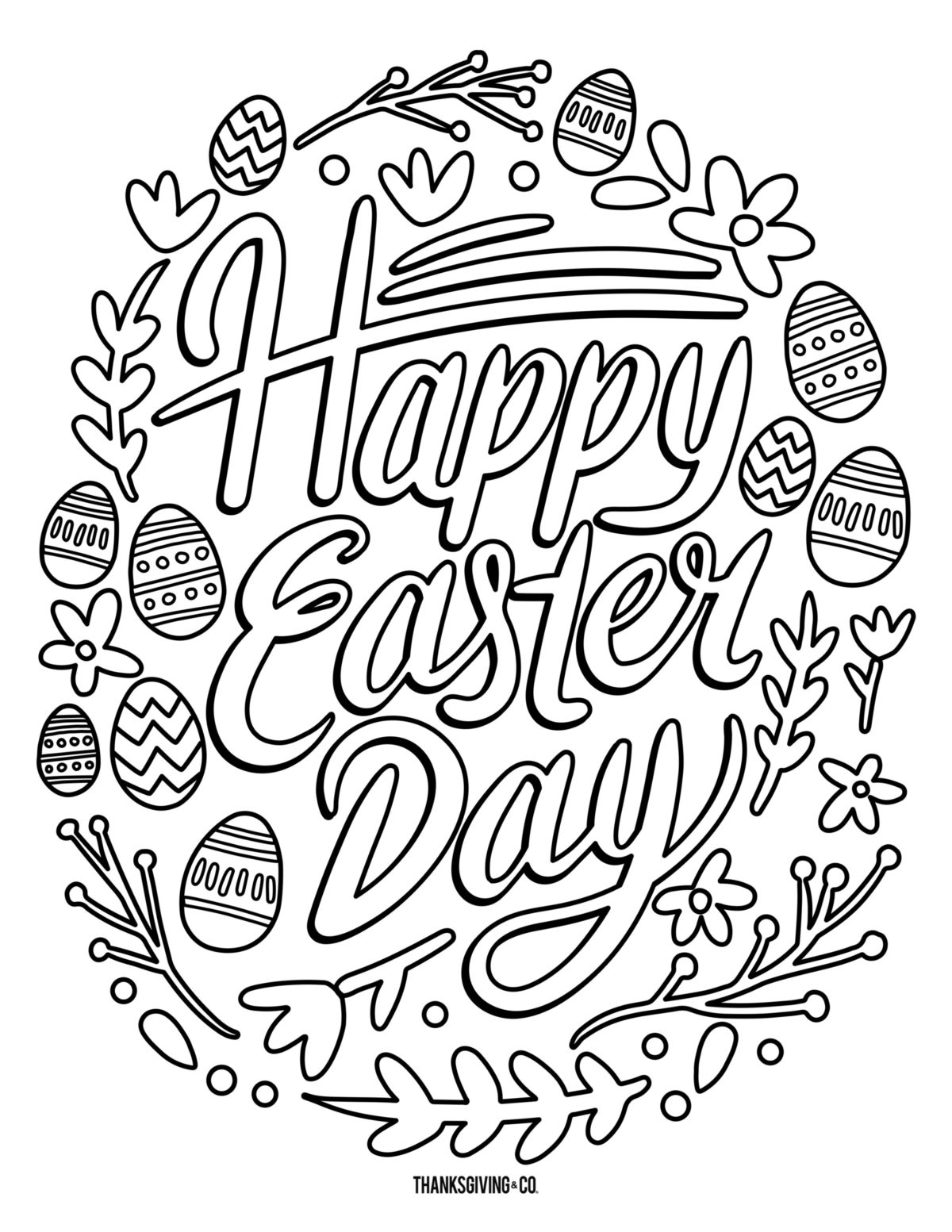 Easter ColoringBook Adult 1