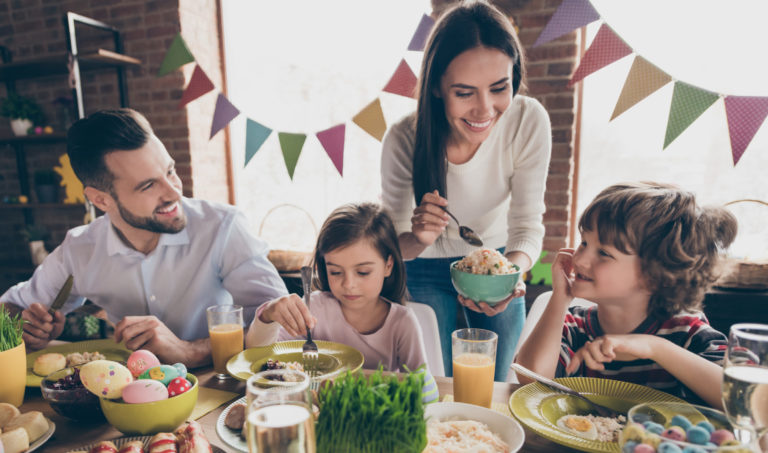 Inexpensive Easter dinner menu for 4 people