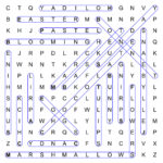 Thanksgiving com Easter wordsearch puzzle solution