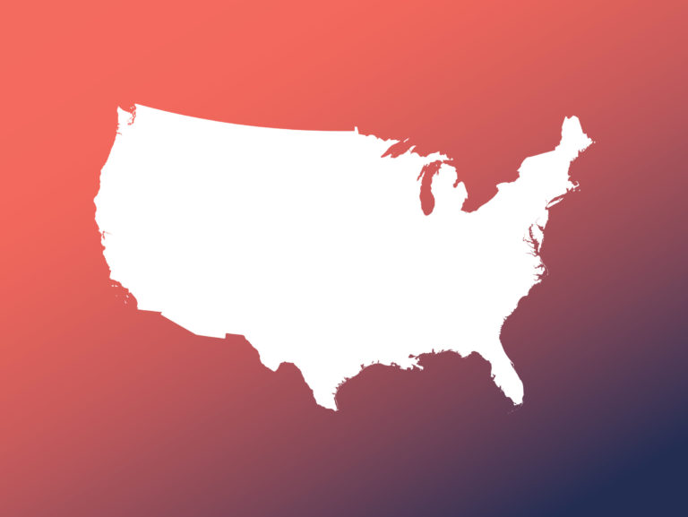 Detailed Map of the United States of America