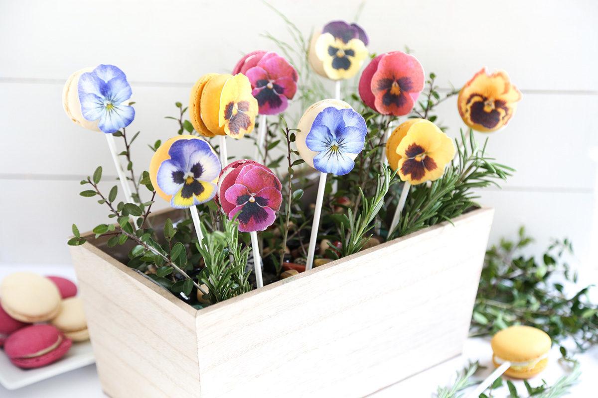 Edible Pansy Bouquet