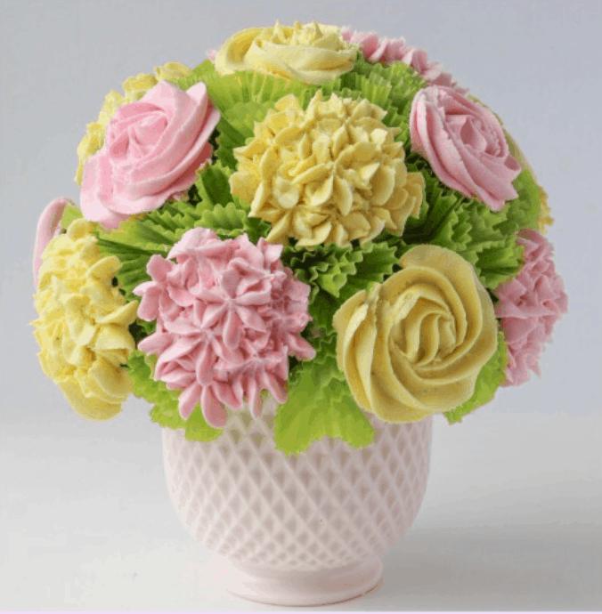Edible cupcake Flower Bouquet