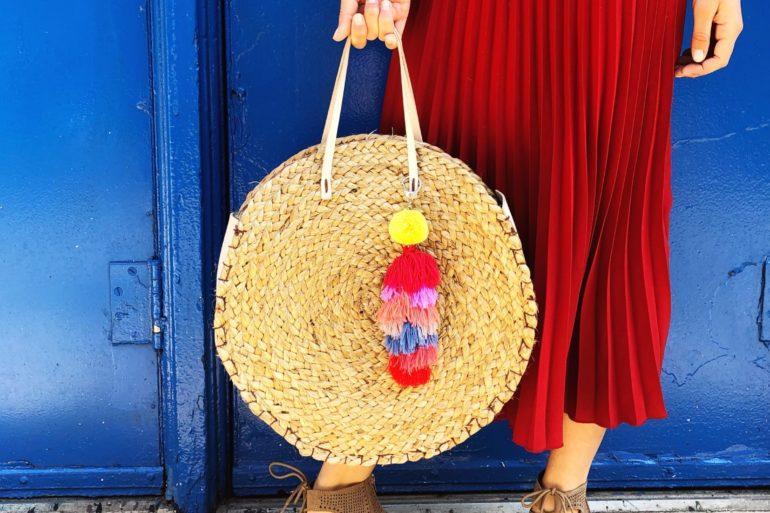 DIY circle straw bag
