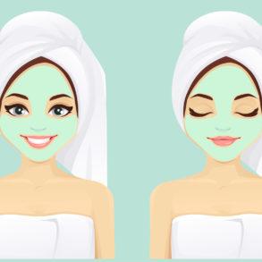 Face skin care woman set