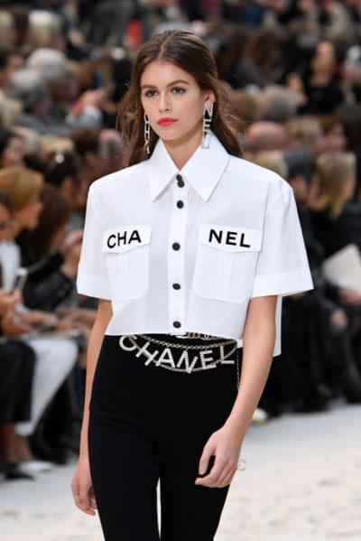 Kaia Gerber in Chanel runway show