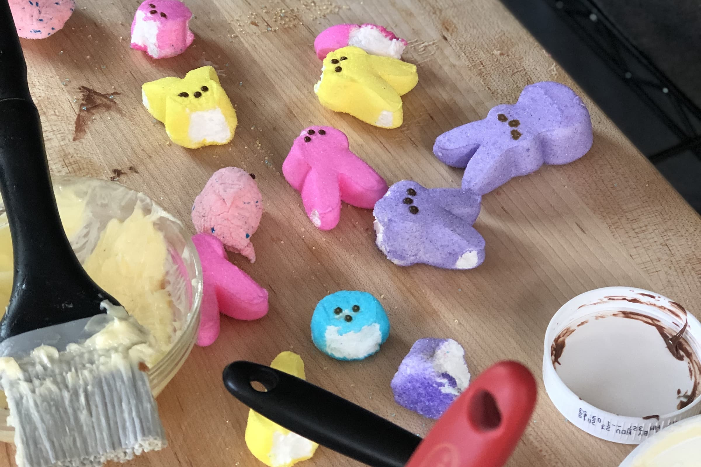Peeps grilled cheese test photo 1