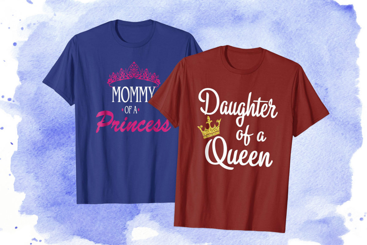 Queen and princess t-shirts