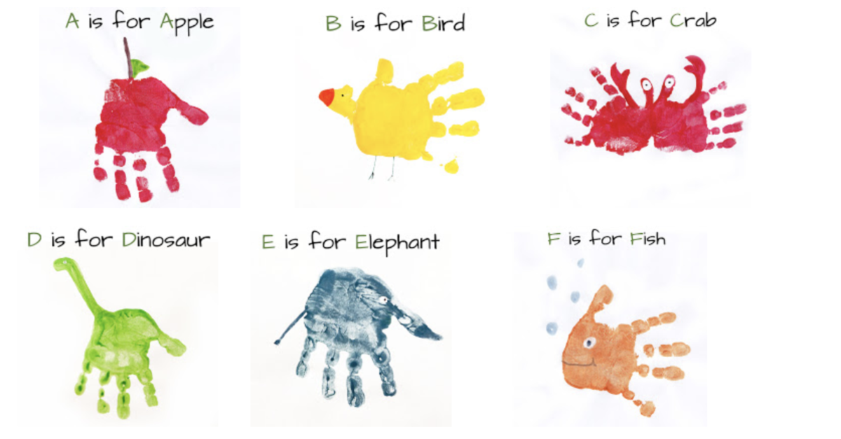 Kids craft for Mother's Day handprints