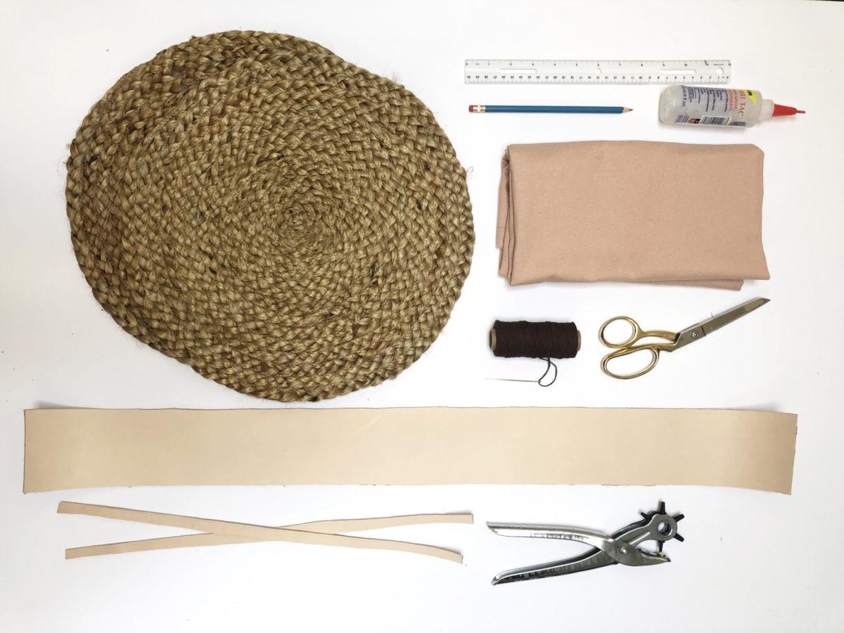 DIY straw purse supplies
