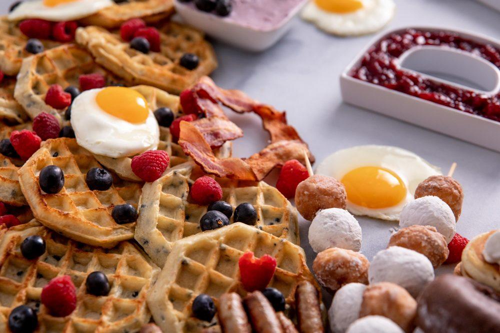breakfast charcuterie board close up