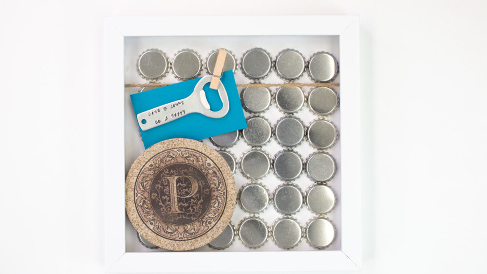 Father's Day Shadow Box opener and coaster