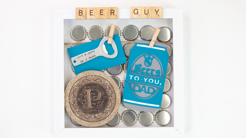 Father's Day Shadow Boxes beer guy