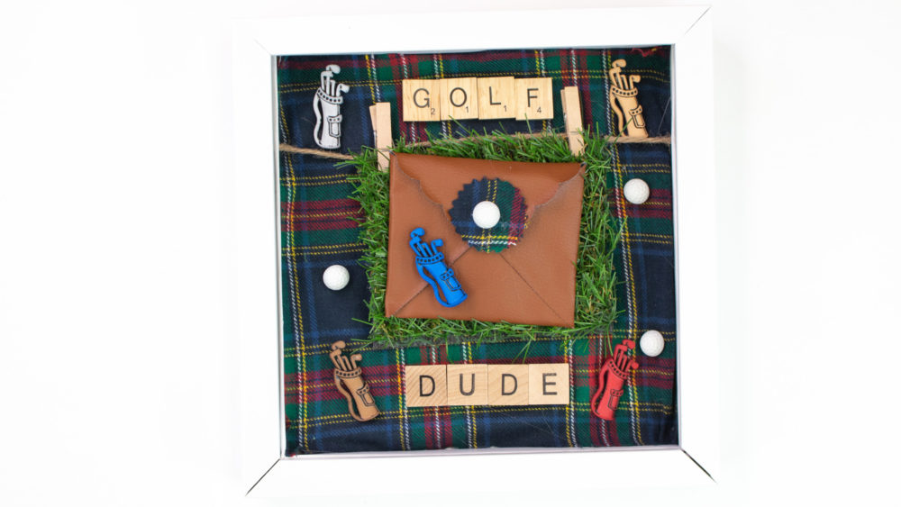 Father's Day Shadow Boxes golf dude