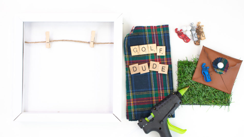 Father's Day Shadow Boxes golf supplies