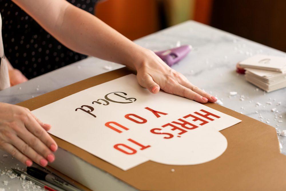 stencil-and-stickers-on-foam-board
