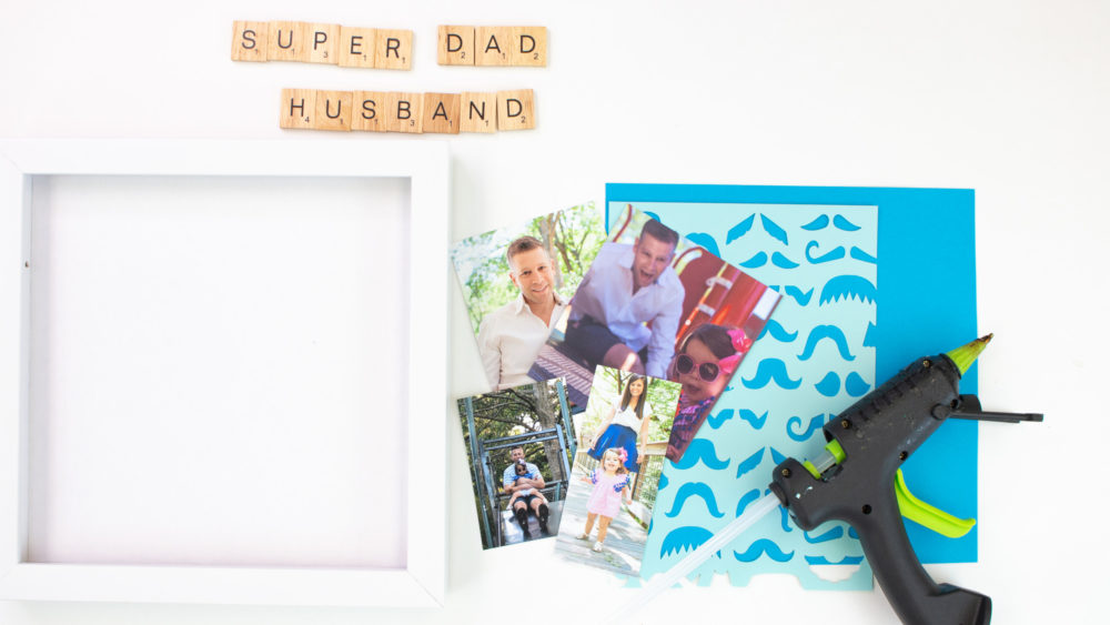 fathers day shadow box supplies