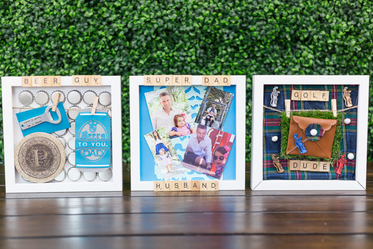 father's day shadow boxes