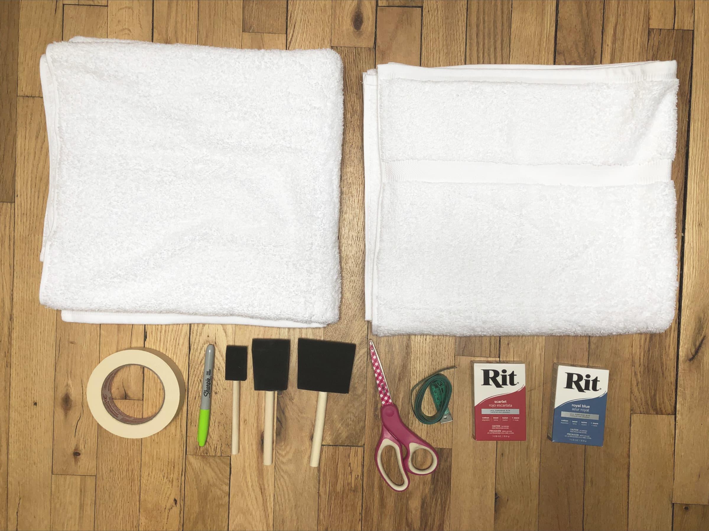 towel diy supplies