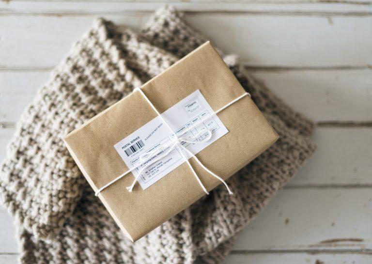 Closeup of parcel box