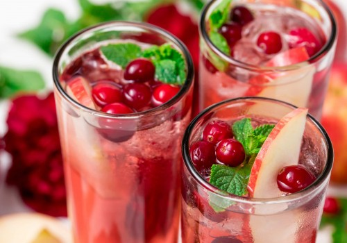 This chardonnay & cranberry-apple juice spritzer is our new holiday go-to cocktail