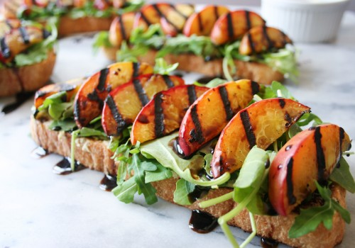 Make grilled peach toast with almond ricotta & balsamic drizzle this summer